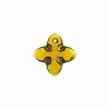 Swarovski Pendant 6868 Cross Tribe 14mm Topaz Dorado 6Pcs